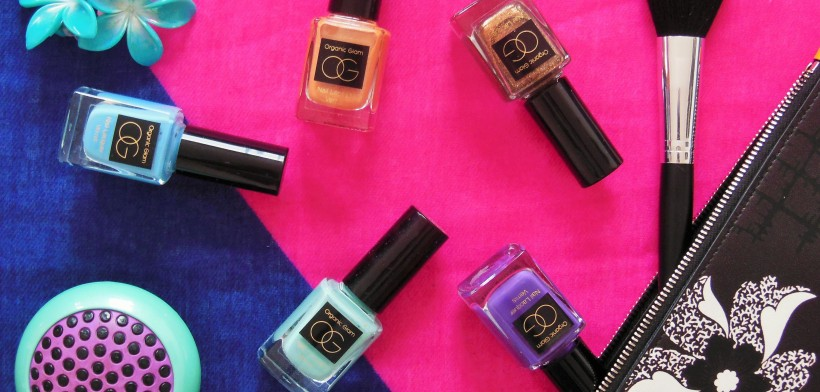 Organic Glam nail polish flatlay featured FreshBeautyFix