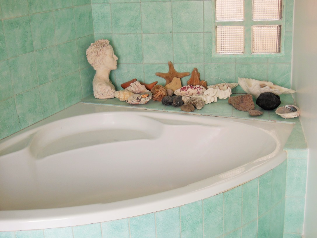 Bathroom with shells as focal point FreshBeautyFix
