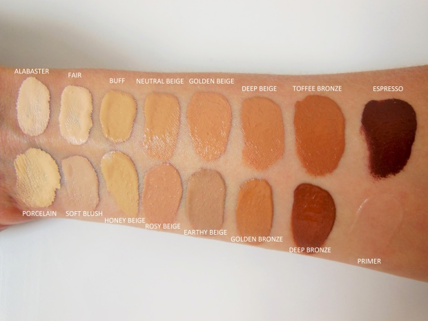 Arbonne Perfecting Liquid Foundation Swatches FreshBeautyFix