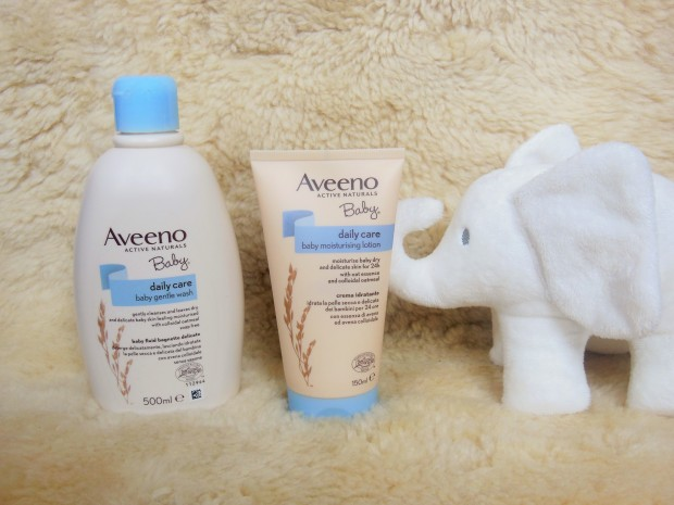 Aveeno Baby Daily Care with white elephant