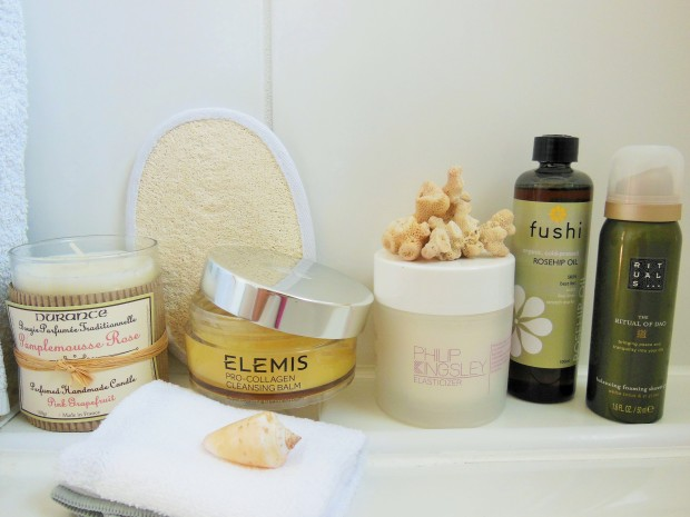 Product selection for creating a spa experience at home