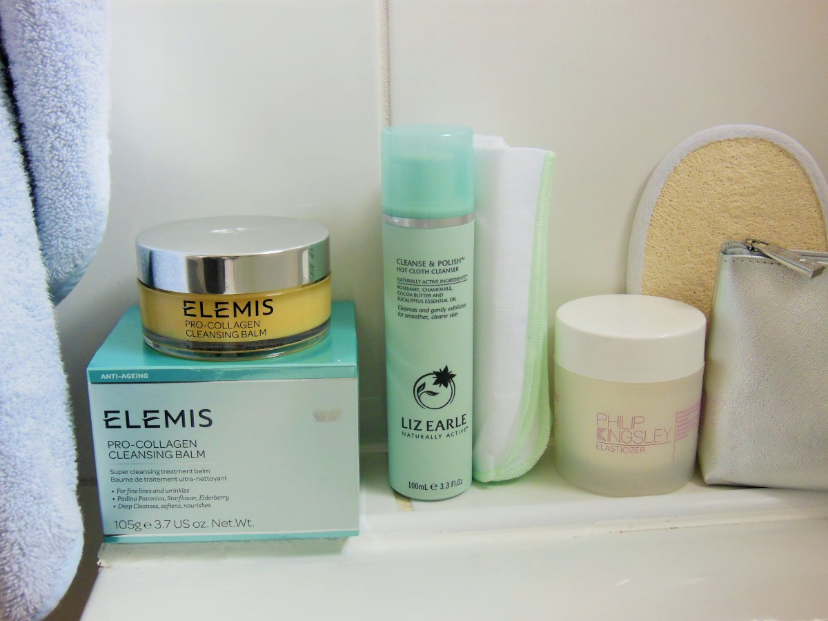 FreshBeautyFix iconic beauty products in the bathroom