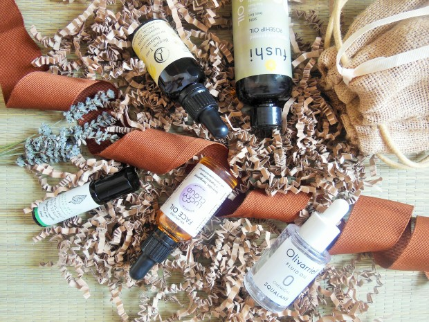Natural Facial Oils from Fushi, Olivarrier, Lucky Cloud, Freyaluna and Alexa Sky Botanicals