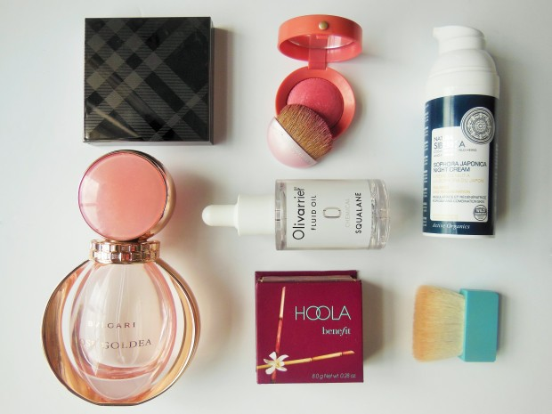 Six beauty products from around the world flatlay