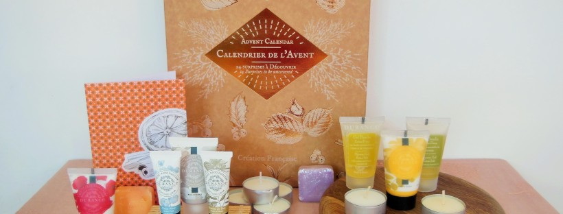 Durance advent calendar with all beauty products