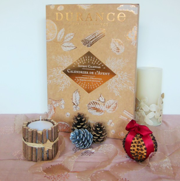 Durance advent calendar with Christmas decorations