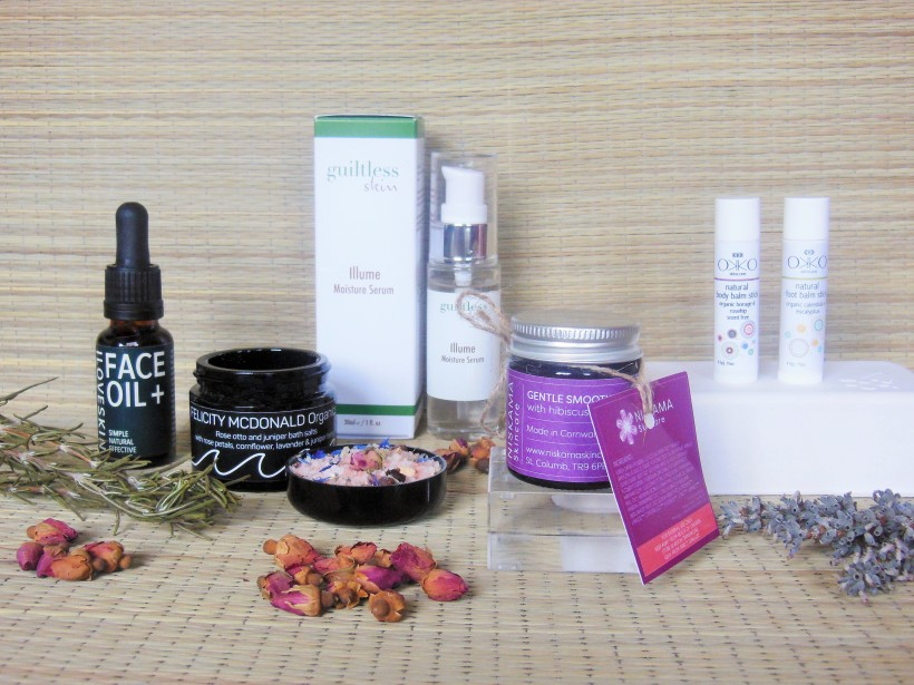 Skincare products from The Natural Beauty Box