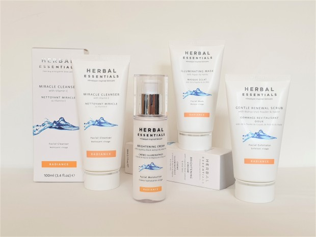 Herbal Essentials Radiance skincare range