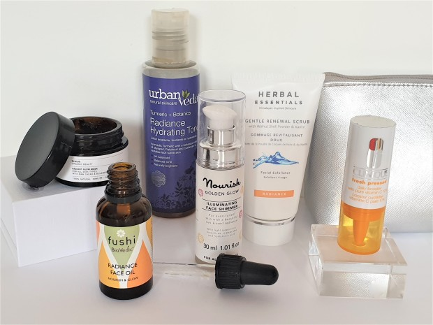 Radiance boosting skincare products