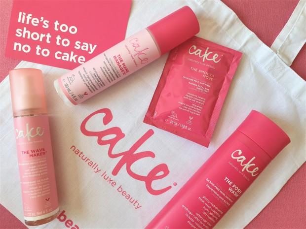Cake hair care range flatlay