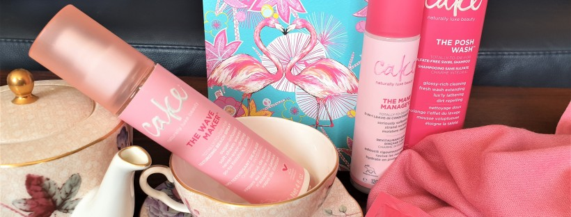 Cake hair care range with tea set