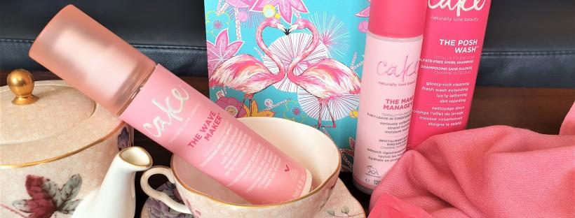 Cake hair care range with tea set