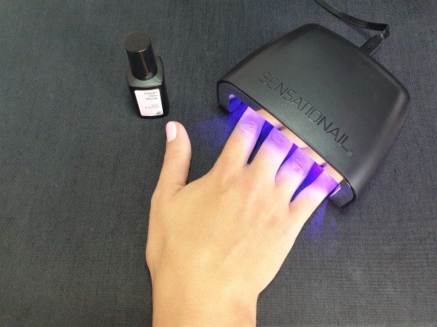 At home manicaure starter kit with LED lamp