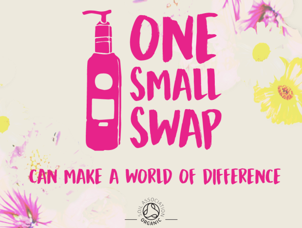 One Small Swap banner by The Soil Association