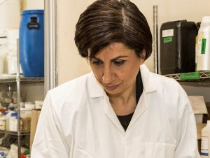 Dr Pauline Hili in the Lab