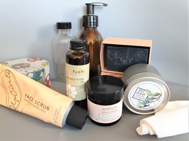 Reduce Reuse Recycle beauty products groupshot
