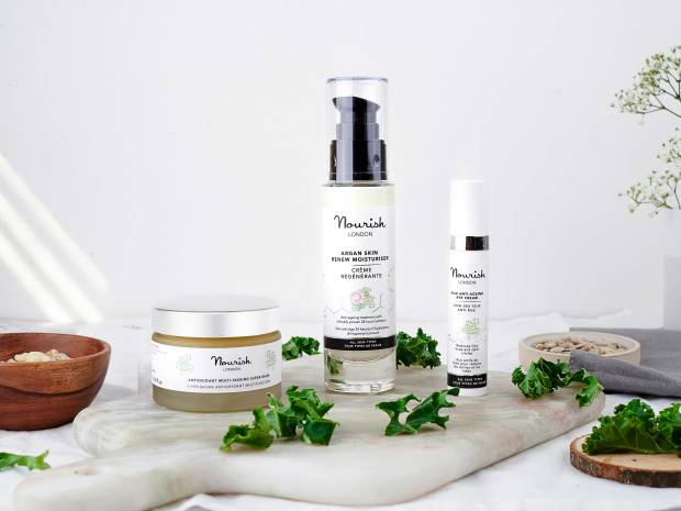 Nourish skincare products groupshot