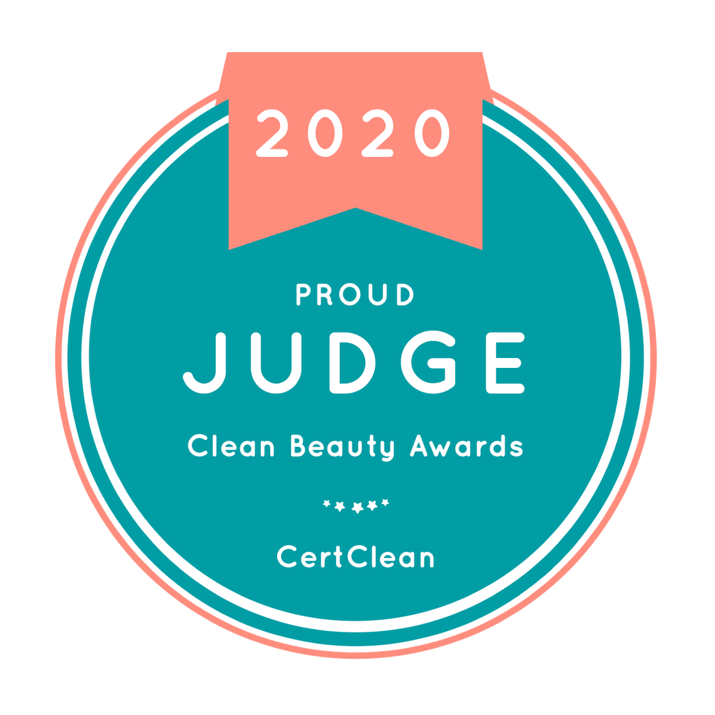 Clean Beauty Awards 2020 proud judge badge
