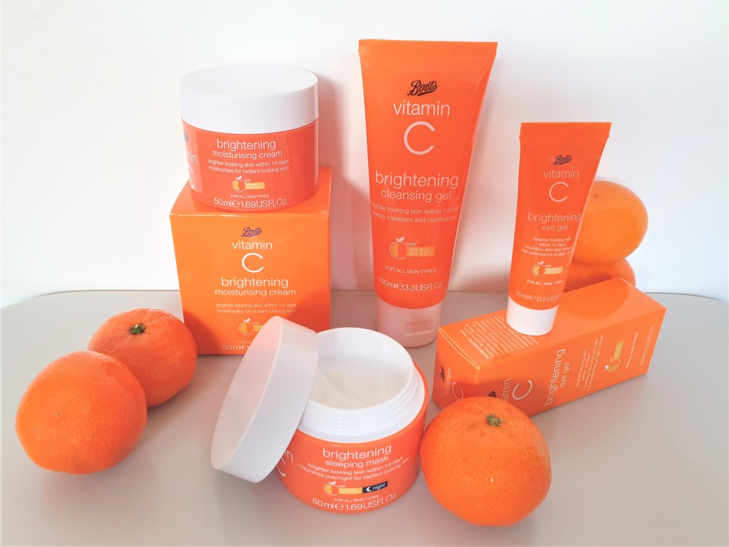 Boots Vitamin C Brightening skincare range groupshot