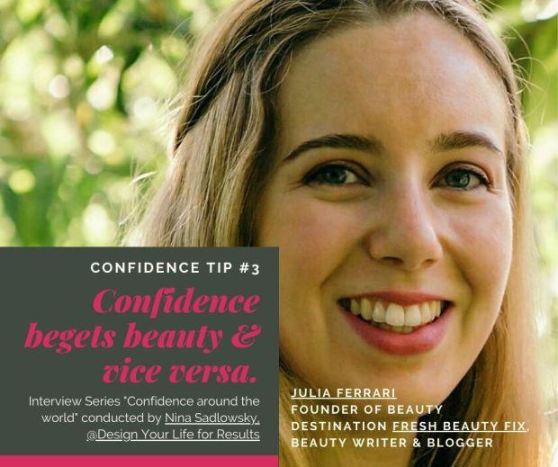 Fresh Beauty Fix Confidence Interview portrait