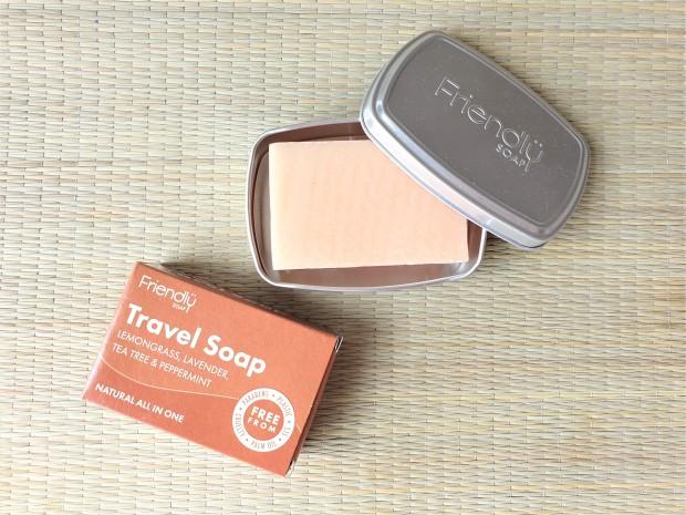 Friendly Soap Travel Bar in tin