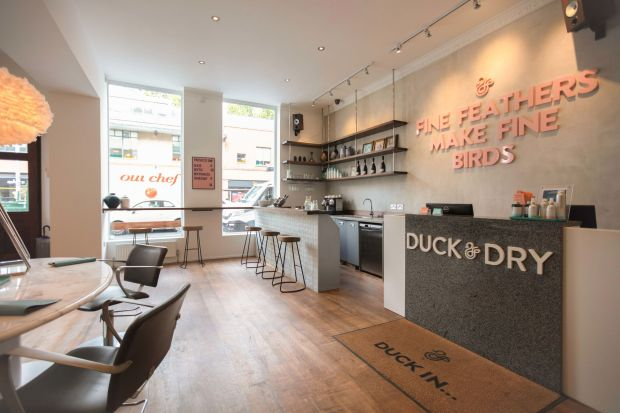 Duck and Dry blow dry bar welcome