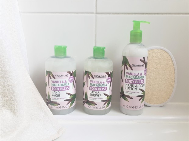 Creightons Body Bliss Vanilla and Macadamia range